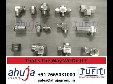 A glimpse into How we do it! TUFIT broad and diverse range of Fluid Conveyance Solutions, Hydraulic & Instrumentation Fittings, Tube and Hose Assemblies, and accessories. This includes Twin Ferrule, Single Ferrule, Weldable, and JIC fittings in SS 304 and SS 316. The part number marking on our products gives complete information about the product including material, thread size, type of thread, tube size, etc.  TUFIT's vision is to be the Most Reliable, Respected, and Trustworthy, World Class Solution Provider for Fluid Conveyance Products & Services by sustaining its leadership in India & continually increase it's Area of Influence in the World.   We are striving to achieve Customer Delight by providing Reliable, Customized Products and Dependable Personalized Services though our enable