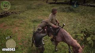 Red Dead Redemption 2 - Funny Moments #3 (Glitch, fail, funny, weird, bug)