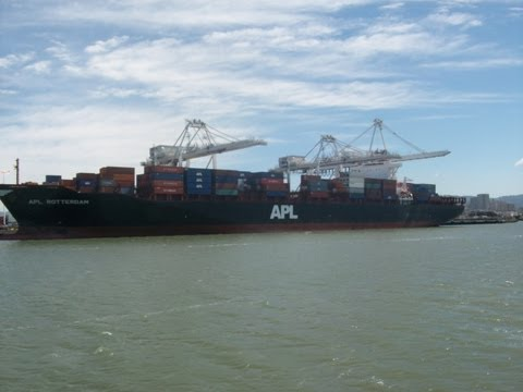 Bay Area Container Ship Spotting - APL Rotterdam at Port of Oakland  June 17, 2013