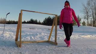 как сделать хоккейные ворота из дерева