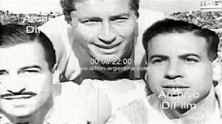 Uruguay vs Argentina por la Copa del Atlantico 1956
