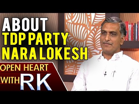 Telangana Irrigation Minister Harish Rao About TDP party and Nara Lokesh | Open Heart with RK