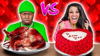 VALENTINE'S DAY VS REAL FOOD CHALLENGE