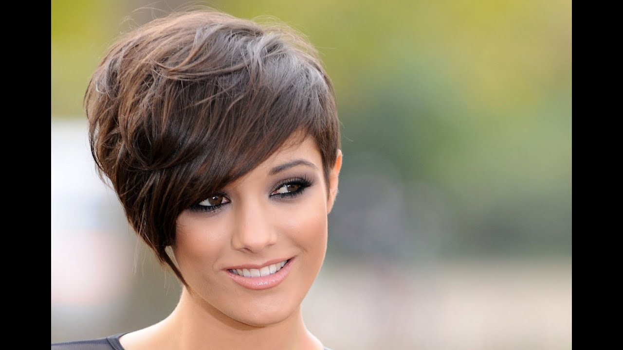 Short Hairstyles For Round Faces and Thick Hair 2016 - YouTube