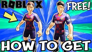 Get your free fc barcelona rthro bundles in roblox here: https://www.roblox.com/bundles/504/fc-barcelona-elite-striker https://www.roblox.com/bundles/502/fc-...