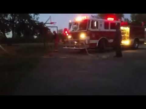 Fire at Playground at Pointer Ridge Elementary School