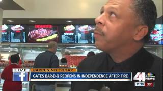Gates Bar-B-Q reopens in Independence after fire