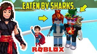 Roblox: SHARK INFESTED WATERS WITH A FOUR YEAR OLD