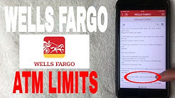 ✅  Wells Fargo Bank ATM Limits ?
