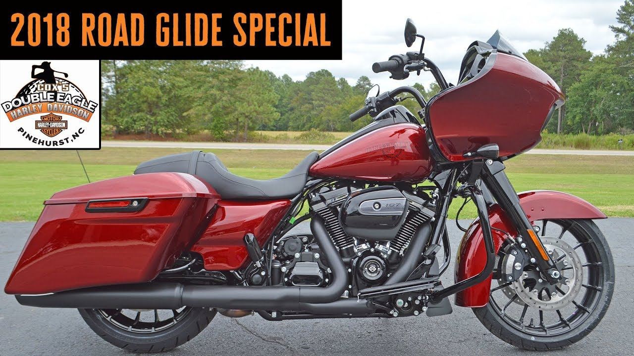Harley Davidson Street Glide Special >> 2018 Harley-Davidson Road glide Special FLTRXS Hot Red Flake Hard Candy Custom - YouTube