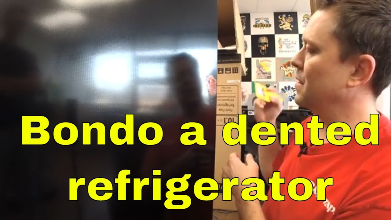 How to repair a dented fridge Rm wraps - YouTube