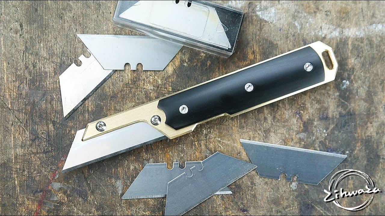 칼날 갈지 말고 갈아서 사용하세요. 칼날 교체형 칼 만들기