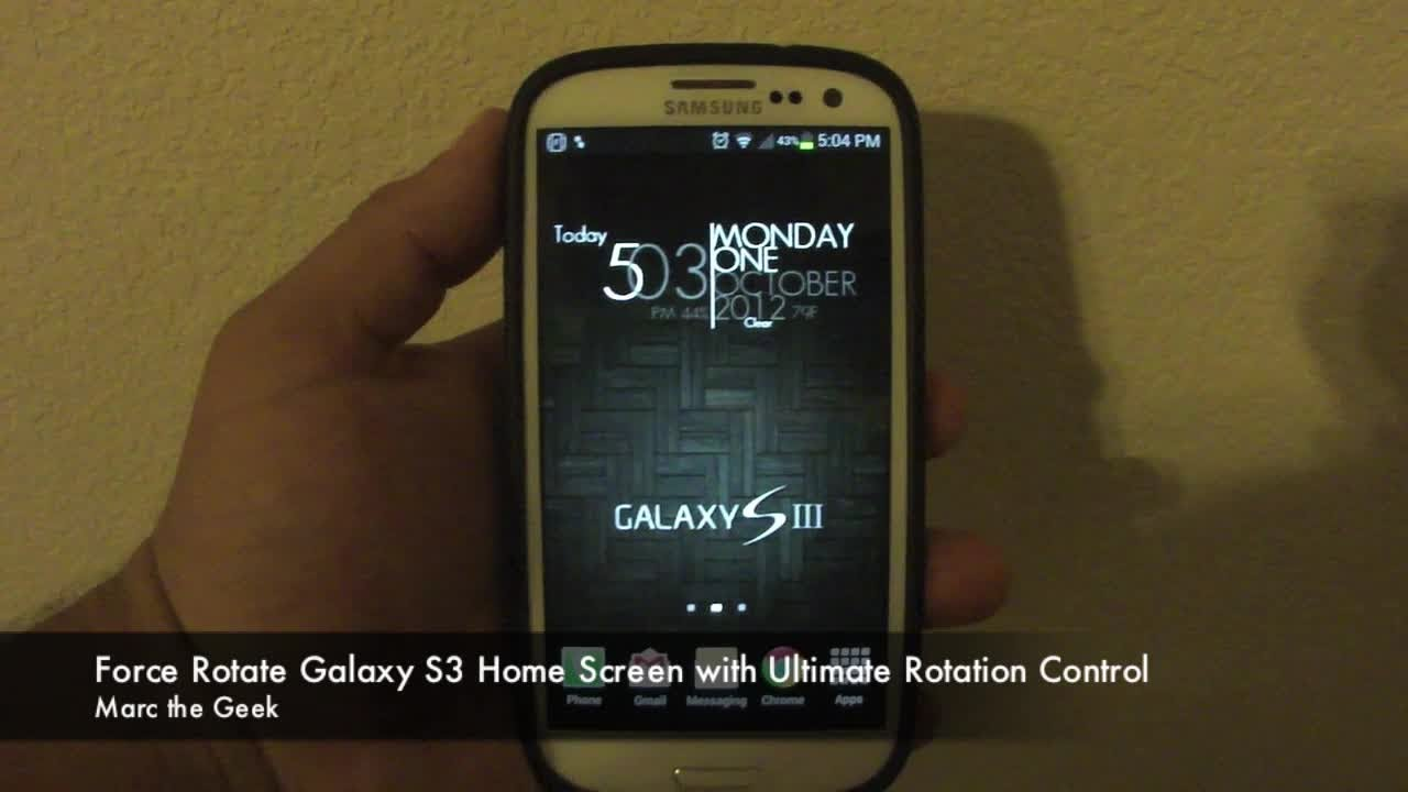 force rotate galaxy s3 home screen with ultimate rotation control