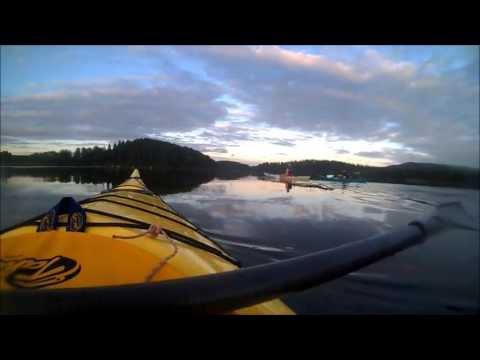 kayaking in Jämtland mountains, Sweden