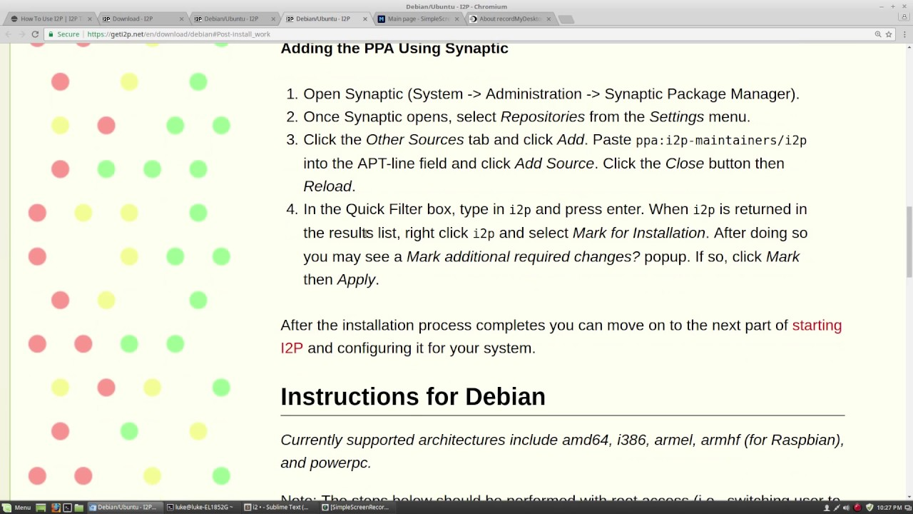 Installing I2P for Linux Mint