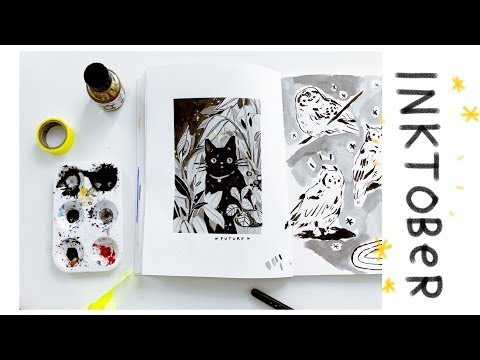 Inktober Day 2 - Painting Future