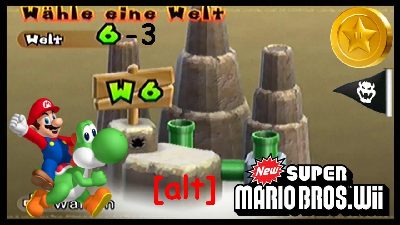 New Super Mario Bros Wii 44 Welt 6 3 Sternenmünzen Youtube