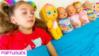 Dez em uma cama -  canção infantil por Sunny Kids Songs em Português