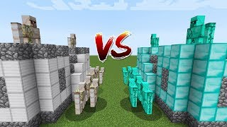 WHO HAS THE MOST STRONG CASTLE MINECRAFT? IRON GOLEM VS DIAMOND GOLEM