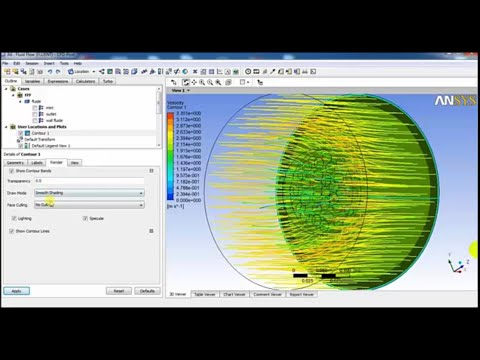 Ansys Fluent Tutorial | Basic flow simulation through perforated plate  2016