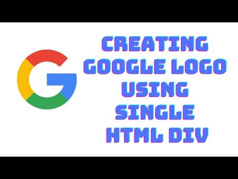Creating Google Logo Using Single HTML Div | Web Development | HTML | CSS | The Inside Codes