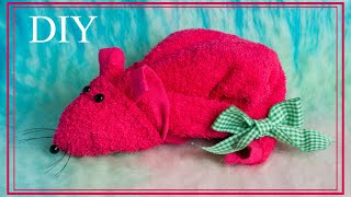a towel mouse  Крыса из полотенца