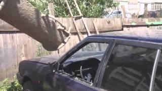 RoadRage.Ru : Водительская разборка в Казани. Залили бетон в машину обидчика