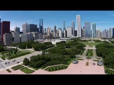 Grant Park, Chicago, IL -  Dji Phantom 2 Vision + flyover