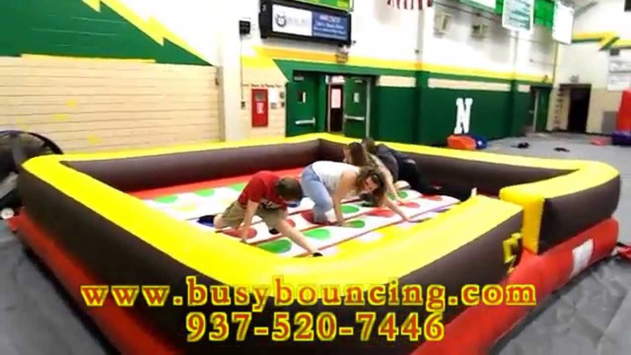 Busy Bouncing Inflatable Twister - YouTube