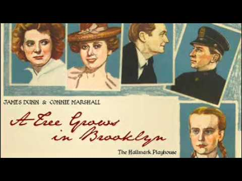 """Part One: """"A Tree Grows in Brooklyn"""" (The Hallmark Playhouse) James Dunn and Connie Marshall"""