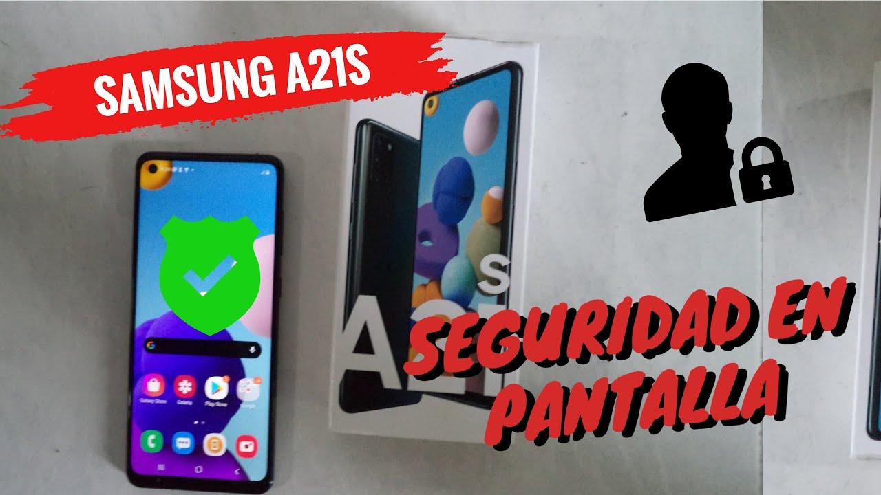 Samsung A21s Como Activar La Seguridad En Pantalla Pin Contrasena O Facial Hd Youtube