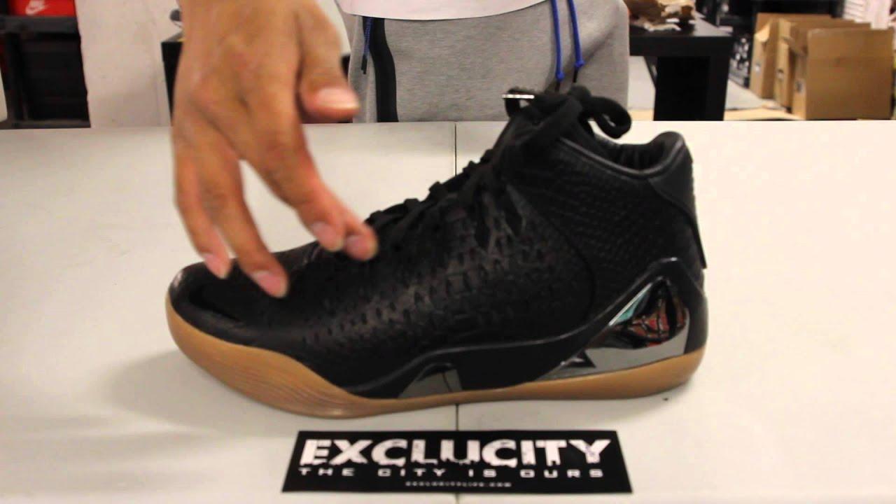 Men's Nike Kobe 9 IX Mid Ext QS Black Snakeskin Sneakers : F75d1578