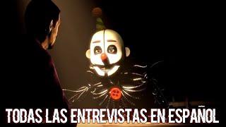 TODAS LAS ENTREVISTAS de FNAF en ESPAÑOL - ANIMACIÓN DE FIVE NIGHTS AT FREDDY'S (ANIMATION)
