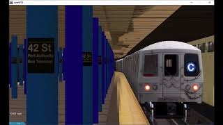 OpenBVE Railfanning:Times Square 42nd Street PABT Action! (1)(2)(3)(7)(A)(C)(E)(N)(Q)(R)(W)(S)