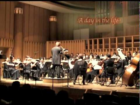 "The Beatles  ""A day in the life""  orchestra"