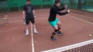 Теннис. Передвижения по площадке и работа ног. Часть 5 - соединение работы ног у сетки.
