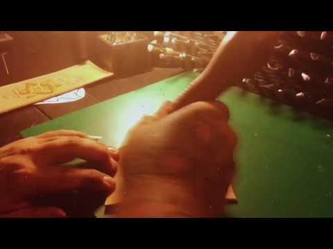 Burnishing Leather With Paddle Burnisher