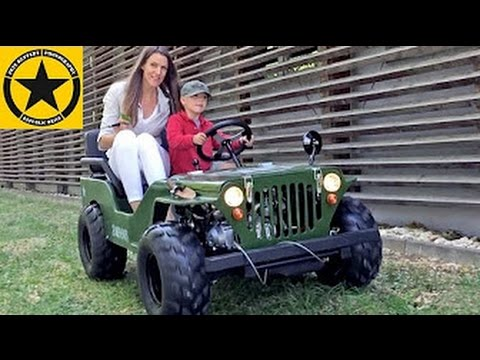 Coming Kids Jip.Children Jeep Kids Willys Jeep Little Boy 3 Drives Mummy Around