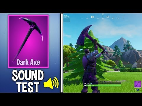 *NEW* DARK AXE PICKAXE Gameplay in Fortnite Sound and Review