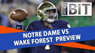 Notre Dame vs Wake Forest | Sports BIT Clip | College Football Odds & Picks