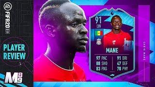 FIFA 20 POTM MANE REVIEW   91 POTM MANE PLAYER REVIEW   FIFA 20 Ultimate Team
