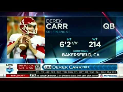 Radiers Draft Derek Carr