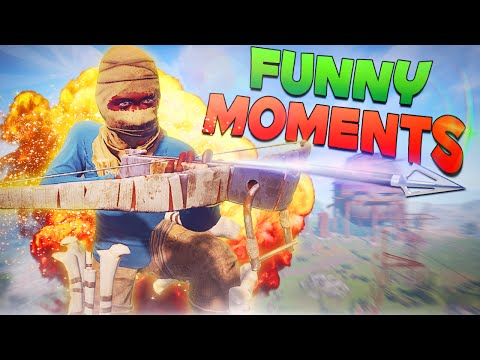 Rust Funny Moments - Bait and Switch, Submarine Bear, Roof Raid, Idiot Friends!