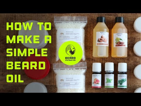How to make a simple scent free beard oil | Beard Instructor