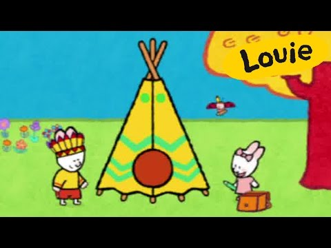 Tepee - Louie draw me a tepee | Learn to draw, cartoon for children
