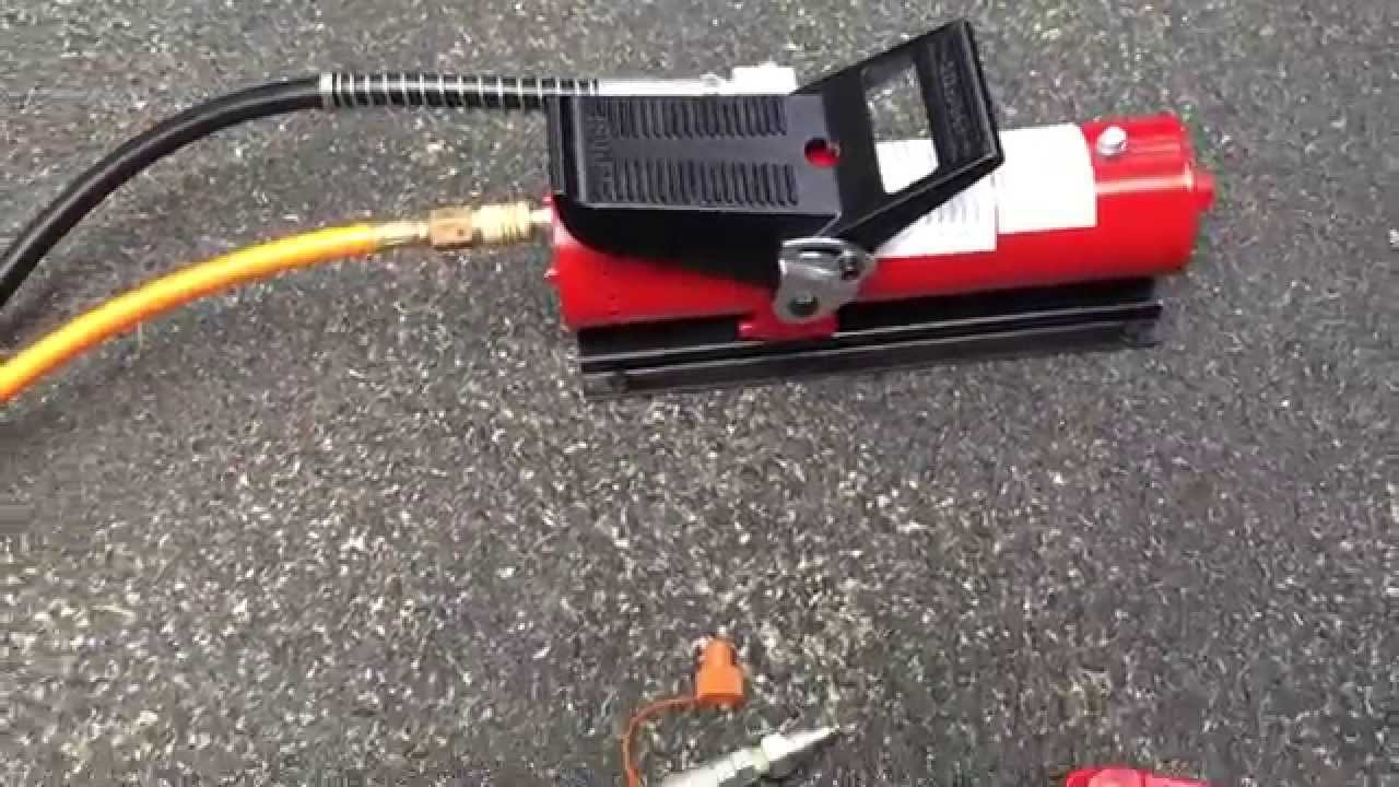 Air Bag Jack >> 10,000 PSI Air Hydraulic Control Foot Pump - YouTube