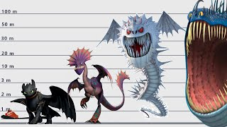 """Dragons Size Comparison   Biggest dragons from the  """"How to Train Your Dragon""""  New Version"""