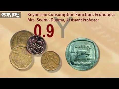 Keynesian Consumption Function, Economics (B.A.)