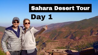Sahara Desert Tour Day 1 | Atlas Mountains Morocco Travel Day | المغرب