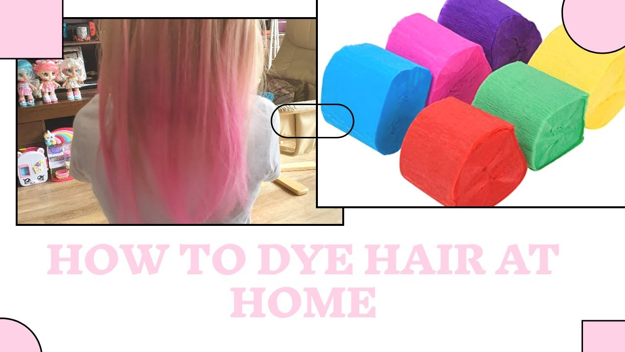 How to DYE HAIR at HOME 💗 #pink #hairdye